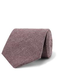 Cravate en laine bordeaux Oliver Spencer