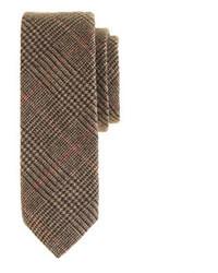 Cravate en laine brun