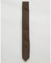 Cravate en laine brun Asos