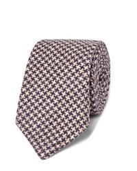 Cravate en laine en pied-de-poule bleu marine Brunello Cucinelli