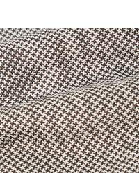 Cravate en laine en pied-de-poule marron Kingsman