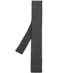 Cravate en laine en tricot noire Eleventy