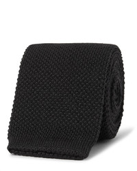 Cravate en laine en tricot noire Paul Smith