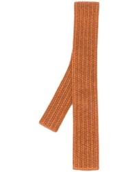 Cravate en laine en tricot tabac Eleventy