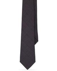 Cravate en laine gris foncé