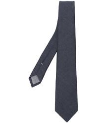 Cravate en laine gris foncé Eleventy