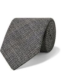 Cravate en laine gris foncé Oliver Spencer