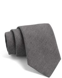 Cravate en laine gris