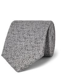 Cravate en laine grise Charvet