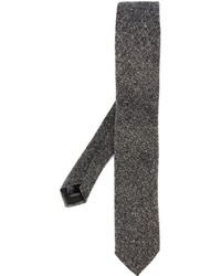 Cravate en laine grise Corneliani