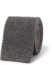 Cravate en laine grise Oliver Spencer