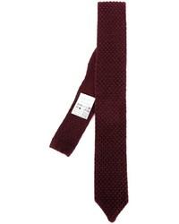 Cravate en laine imprimée bordeaux Lardini