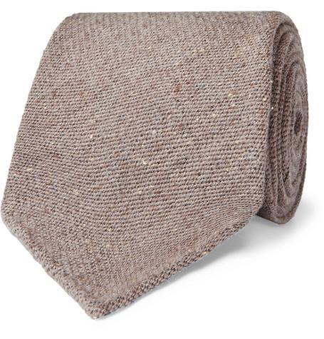 Cravate en laine marron Thom Sweeney