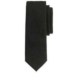 Cravate en laine noire