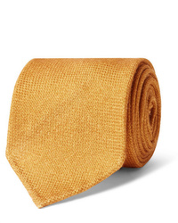 Cravate en laine orange Drake's