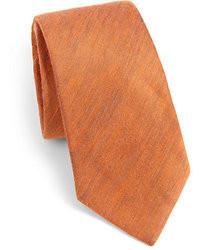 Cravate en laine tabac