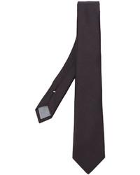 Cravate en laine tressée marron foncé Eleventy