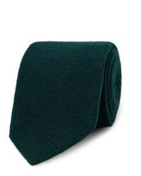 Cravate en laine vert foncé Lardini