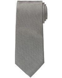 Cravate en pied-de-poule blanche et noire