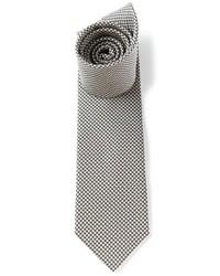 Cravate en pied-de-poule blanche et noire Saint Laurent