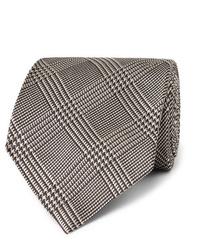 Cravate en pied-de-poule blanche et noire Tom Ford