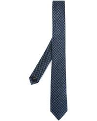 Cravate en pied-de-poule bleu marine Z Zegna