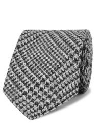 Cravate en pied-de-poule gris foncé Tom Ford
