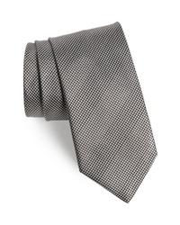 Cravate en pied-de-poule grise