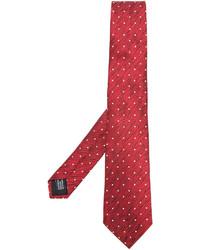 Cravate en soie á pois rouge Cerruti