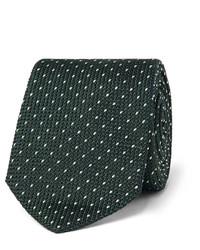 Cravate en soie á pois vert foncé Paul Smith