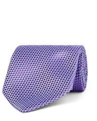 Cravate en soie á pois violet clair Charvet
