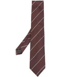 Cravate en soie à rayures horizontales bordeaux Tom Ford
