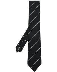 Cravate en soie à rayures horizontales noire Tom Ford