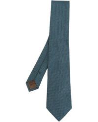 Cravate en soie bleu canard Church's