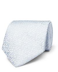 Cravate en soie bleu clair Charvet