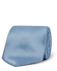Cravate en soie bleu clair Ermenegildo Zegna
