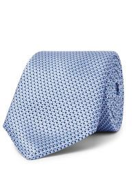 Cravate en soie bleu clair Hugo Boss