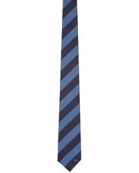 Cravate en soie bleu marine Burberry