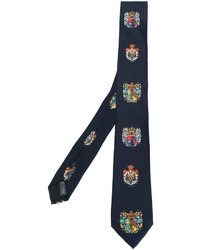 Cravate en soie bleu marine Dolce & Gabbana