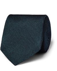 Cravate en soie bleu marine Drakes