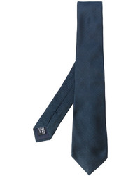 Cravate en soie bleu marine Giorgio Armani