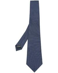 Cravate en soie bleu marine Z Zegna