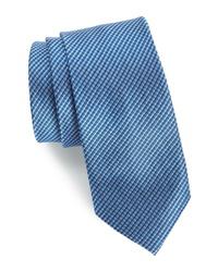 Cravate en soie bleue