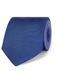Cravate en soie bleue Burberry