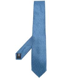 Cravate en soie bleue Cerruti