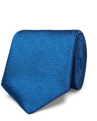 Cravate en soie bleue Charvet