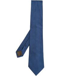 Cravate en soie bleue Church's