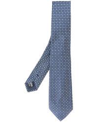 Cravate en soie bleue Giorgio Armani