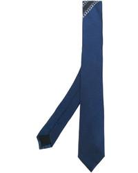 Cravate en soie bleue Givenchy