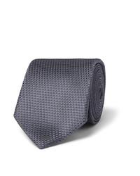 Cravate en soie bleue Hugo Boss